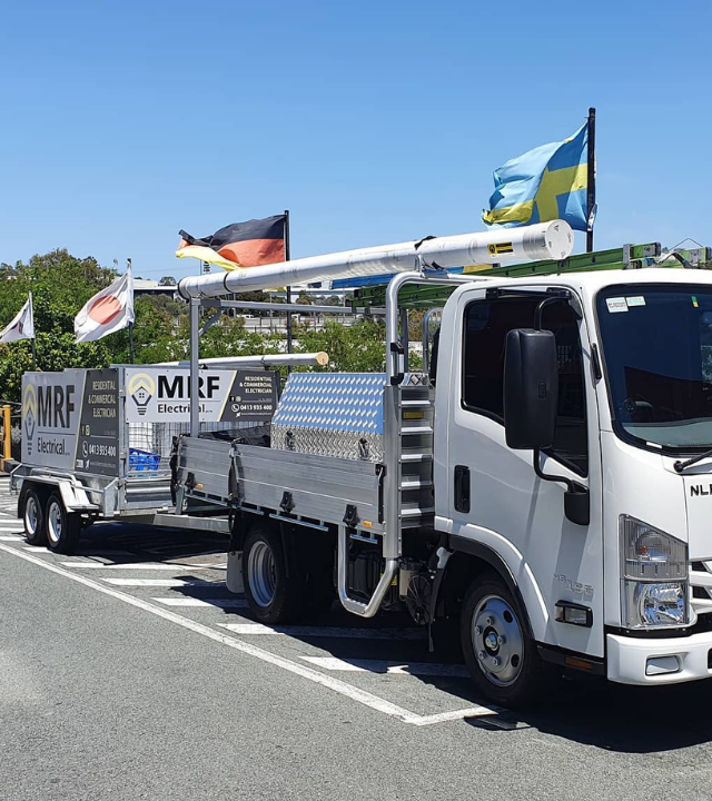 brisbane electricians MRF truck and trailer